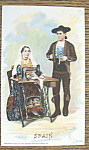 Spain Couple (Singer Trade Card) World Columbian Expo