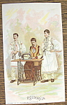 Roumania (Singer Trade Card) Three Men From Country