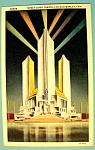 1933 Century Of Progress, Three Fluted Tower Postcard