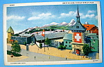 1933 Century Of Progress, Swiss Village Postcard