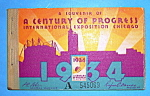 1934 Century Of Progress, 5 Tickets
