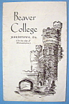 1933 Century Of Progress, Beaver College Brochure