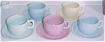 Coors Pottery Mello-tone Pink Cup/saucer Set