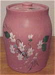 Coors Pottery Dusty Rose Cookie Jar Flawless