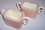 Franciscan Pottery Metropolitan Duo Coral 2 Sugar Bowls