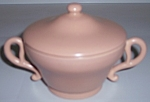 Franciscan Pottery El Patio Satin Coral Sugar Bowl