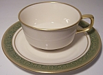 Franciscan Pottery Fine China Antique Green Cup/saucer