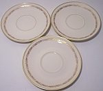 Franciscan Pottery Fine China Arcadia Gold Set/3 Saucer
