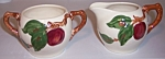 Franciscan Pottery Apple Ind Creamer/sugar Bowl Set