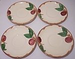 Franciscan Pottery Apple U.s.a. Set/4 Saucers