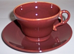 Franciscan Pottery El Patio Redwood Cup/saucer Set