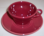Franciscan Pottery El Patio Maroon Cup/saucer Set