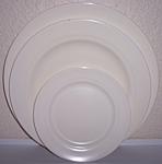 Franciscan Pottery Montecito Satin Ivory Set/3 Plates
