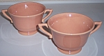 Franciscan Pottery Montecito Gloss Coral Pr Sugar Bowls
