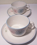 Franciscan Pottery Family China Maytime Pr Cups/saucers