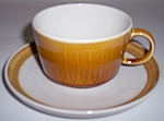 Franciscan Pottery Discovery China Topaz Cup/saucer Set