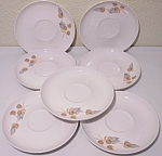 Franciscan Pottery Fan Tan Set/7 Saucers