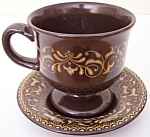 Franciscan Pottery Jamoca Coffee Cup/saucer Set