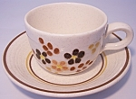 Franciscan Pottery Toffee Cup/saucer Set