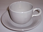 Franciscan Pottery Reflections Silver Grey Cup/saucer