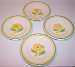 Franciscan Pottery Maypole Set/4 Saucers