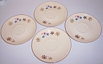 Franciscan Pottery Larkspur Set/4 Saucers