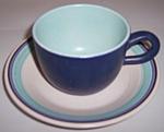 Franciscan Pottery Malibu Cup/saucer Set