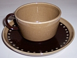 Franciscan Pottery Tahiti Cup & Saucer Set