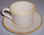 Franciscan Pottery Golden Weave Cup/saucer Set