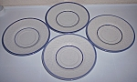 Franciscan Pottery Dutch Weave Set/4 Saucers