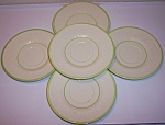 Franciscan Pottery Mint Weave Set/5 Saucers