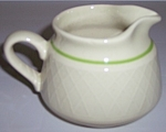Franciscan Pottery Mint Weave Creamer
