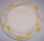 Franciscan Pottery Americana Stars/stripes Dinner Plate