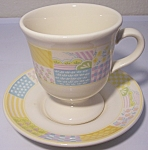 Franciscan Pottery Americana Stars/stripes Cup/saucer
