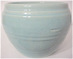 "Pacific Pottery Banded Lt Blue 7"" Jardiniere"