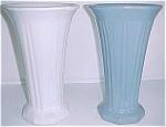 "Zanesville Stoneware Pottery 11-3/4"" Delph Vase"