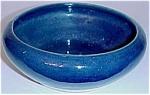 Zanesville Stone Ware Pottery Cobalt Flower Bowl