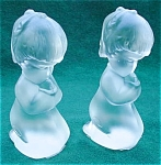 Pr. Of Fenton Praying Girl Figurines