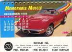Car Calendar 1993-94