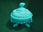Westmoreland Sea Shell Ftd Candy Dish & Cover
