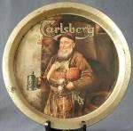 Vintage Carlsberg Beer Ad Tray