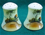 Pr. Of Hand Paint Country Scene S&p Shakers