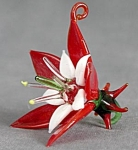 Glass Poinsettia Christmas Ornament