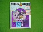Minnesota V Colorado 9/23/72 Football Program