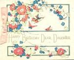 Vintage Birthday Card Butterflies