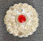 Vintage Metal Rhinestone Button