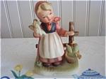 Vintage Erich Stauffer Girl - Farm Chores -