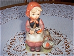 Vintage Erich Stauffer Girl - Picnic Time -
