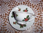 Lefton Christmas - Holly Berry - Cup & Saucer