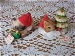 Josef Originals Fuzzy Christmas Kittens